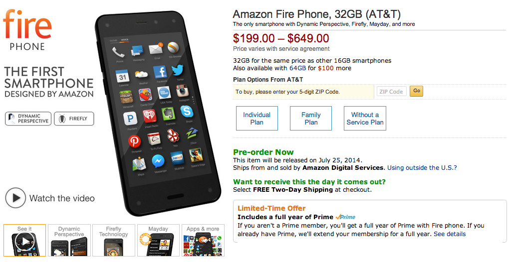 Amazon Fire Page